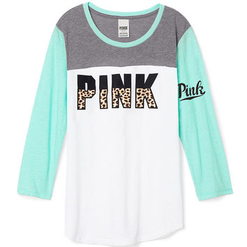 e831dab4a4 Colorblock Football Tee - PINK - from Victoria s Secret