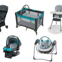 Graco Baby Gear Bundle, Stroller Travel System, Play Yard, Swing, and High Chair