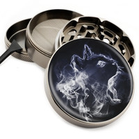 "Cat Smoke - 2.5"" Premium Zinc Herb Grinder - Custom Designed"
