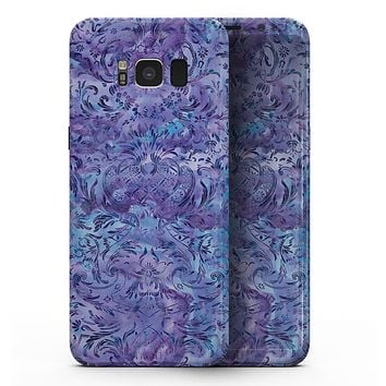 Purple Damask v2 Watercolor Pattern V2 - Samsung Galaxy S8 Full-Body Skin Kit