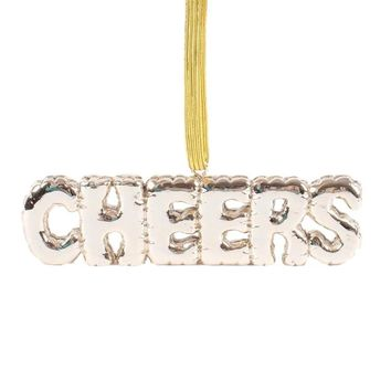 Cheers Gold Balloon Ornament