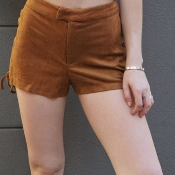 """Wild West"" Vegan Suede Shorts"