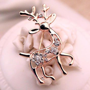Women cute brooch beer mask shinning rhinestone inlaid pins gift party girl gold brooches for lady