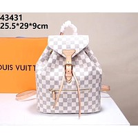 LV 2019 new men and women models high quality fashion versatile shoulder bag white