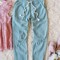 Faded Sage Pants