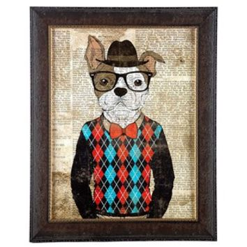 Hipster Dog Framed Wall Art | Shop Hobby Lobby