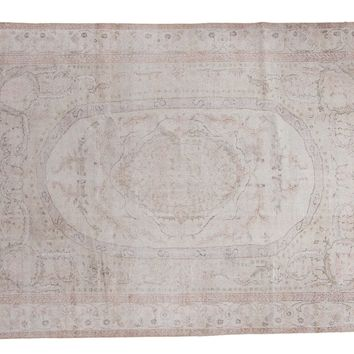 7x10 Distressed Oushak Carpet