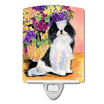 Japanese Chin Ceramic Night Light SS8299CNL