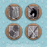 ATTACK ON TITAN (Shingeki no Kyojin) Inspired Pins