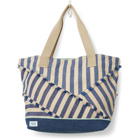 TOMS Indigo Stripe Mix Lakeside Tote bag