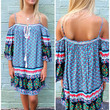 Encinitas Off The Shoulder Peasant Dress