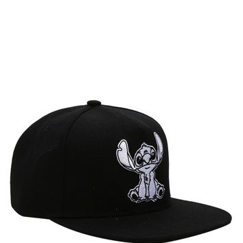 Licensed cool Disney Lilo & Stitch Experiment 626 Black & White Snapback Adjustable Ball Hat