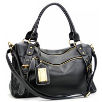 ROMWE Buckled Sheer Black Bag