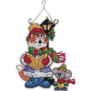 Top Quality Lovely Counted Cross Stitch Kit Kitten Cat and Mouse Ornament Christmas Tree Ornaments Gift Dim 73414