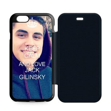 Keep Calm and Love Jack Gilinsky Leather Wallet Flip Case iPhone 6 | 6S