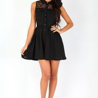 Missguided - Jenissa Lace Back Skater Dress