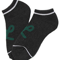LRG (Lifted Research Group) Core Collection The One Stripe No Show Socks in Black Heather