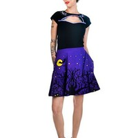 "Women's ""Night Owls"" Strode Skirt by Too Fast (Purple)"
