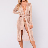 Danielle Cardigan - Rose Gold
