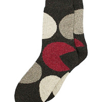 Big Dot Ankle Socks in Gray – bandbcouture.com