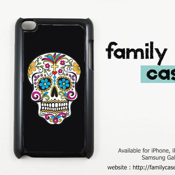Skull Sugar Bone Paisley iPod touch 4 / 4G Case iPod 5 / 5G Case, Cover / iPod touch 4th / 5th Generation Case, Cover (Black or White Case)