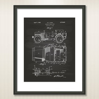 Vintage Willys Jeep 1942 Patent Art Illustration - Drawing - Printable INSTANT DOWNLOAD - Get 5 colors background