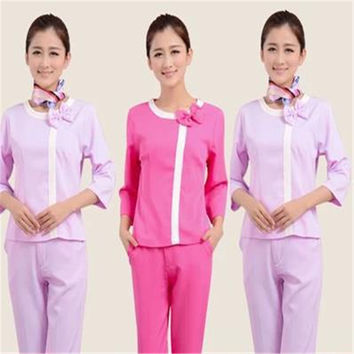 Medical uniforms hairdresser overalls doctor suit beauty salon work clothes medical scrubs women nurse uniform lab coat