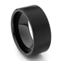 10mm Flat Men's Tungsten Wedding Band