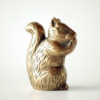 Vintage Brass Squirrel Statue