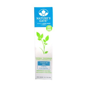 NATURE'S GATE Toothpaste Creme de Mint 6 OZ