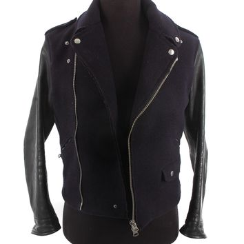 Acne Wool and Leather Biker Jacket