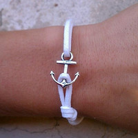 Sweet & Simple Faux Suede Anchor Bracelet- Your Choice of Color