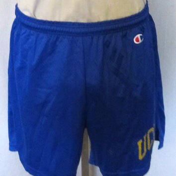 Vintage Amazing 80s UCLA BRUINS CHAMPION College Basketball Medium Large Athletic Work Out Gym Shorts