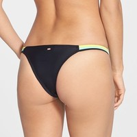 Women's Roxy 'Optic Nature' Strappy Brazilian Bikini Bottoms