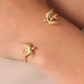 Kissing Swallows Cuff