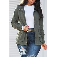 Fall Vibes Jacket Olive