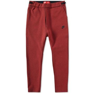 KUYOU Nike Men's Tech Fleece Crop Length Pants (Dark Cayenne)