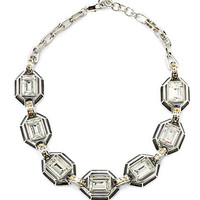 Judith Leiber - Swarovski Crystal & Enamel Collar Necklace