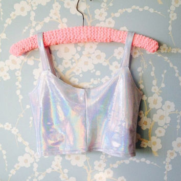Holographic Bralet Style Crop Top