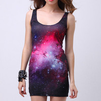 Mysterious Night Body-Conscious Dress [NCSKYD0017] - $41.99 :