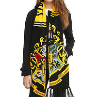 Harry Potter Hogwarts Crest Knit Scarf