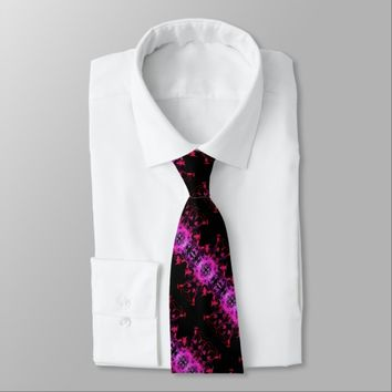 Hot Pink Vines Neck Tie
