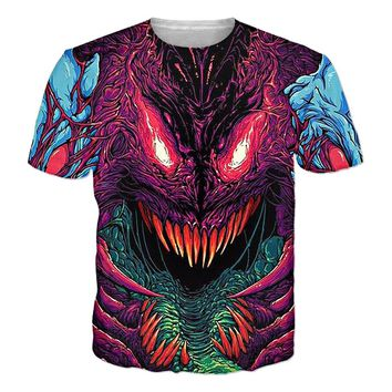 2017 Fashion T-Shirt Psychedelic Tee Tops Womens Men Tshirt Casual Harajuku T Shirt 3d