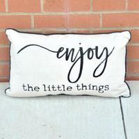 Canvas Pillow - Enjoy