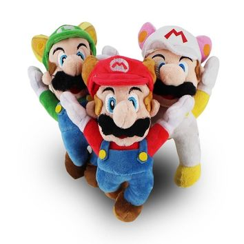 Super Mario party nes switch 3Styles New Arrival  Bros Flying Apsaras White Racoon Fire Raccoon Tanooki  Kitsune Fox Luigi Plush Doll Toys AT_80_8