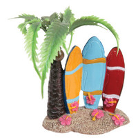 Top Fin® Surfboards and Palm Tree Aquarium Ornament - Decorations - Fish - PetSmart