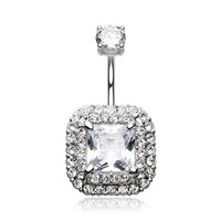 Princess Magnificent Sparkle Belly Button Ring (Clear)
