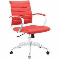 Jive Mid Back Office Chair Red