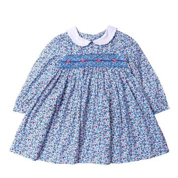 Precious British Smocked Liberty Dress