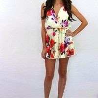 Sweet Nothing Sleeveless Floral Romper